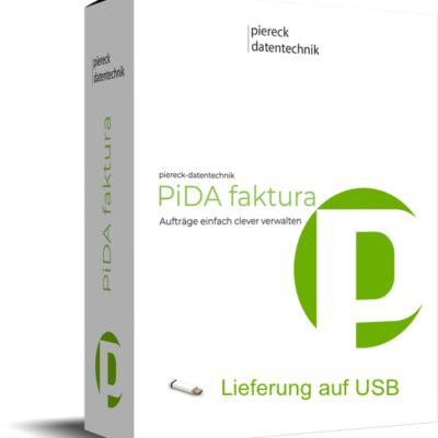 PiDA faktura, Lieferung auf USB Stick